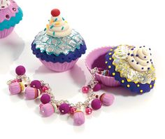 Domestic Goddess - create cupcake trinket boxes from polymer clay