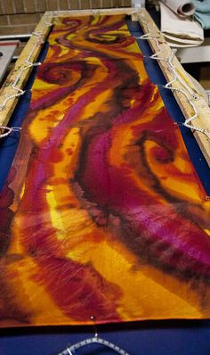 TUTORIAL }- how to dye your own silk scarves pt. 1