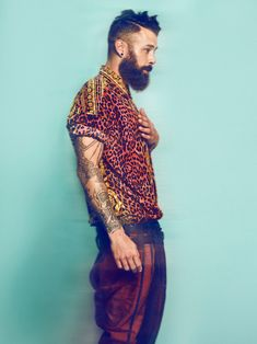 Stefan by Sharon Mor Yosef - Fucking Young! Love Fashion, Mens Fashion, Fashion Design, Leopard Fashion, Dancing In The Dark, Beard Love, Stylish Men, Dapper, Fashion Photography