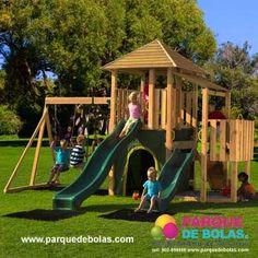 parques infantiles y mixtos en madera parque de bolas