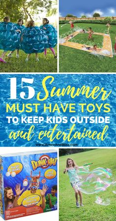 Check out these summer toys to keep kids outside and entertained. Compiled by Victoria Shari at Arrow and Bliss Outside Toys For Kids, Outside Activities For Kids, Outdoor Toys For Kids, Summer Activities For Kids, Toys For Boys, Toddler Activities, Games For Kids, Fun Activities, Kids Toys