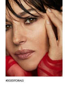 """""""Monica Bellucci, the face of the new The Only One Lipstick, wears Dolce&Gabbana on the cover of Photograph by Xavi Gordo for 8 Artist Management Malena Monica Bellucci, Monica Bellucci Young, Monica Bellucci Photo, Monica Belluci, Beautiful Women Over 50, Beautiful People, Grazia Magazine, Emotional Photography, Bianca Balti"""