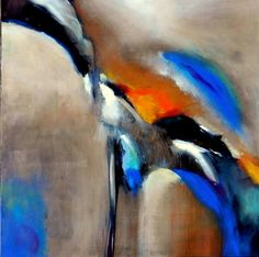 First fly- L'envol. Acrylic on canvas, - by Patricia Maret. Bird, Canvas, Painting, Animals, Abstract Backgrounds, Tela, Animales, Animaux, Birds