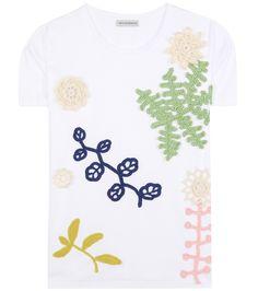 mytheresa.com - Cotton T-shirt with crochet appliqué - Luxury Fashion for Women / Designer clothing, shoes, bags