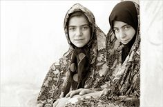 Natural light portrait photography in black and white - Black and white portrait photography - Portrait of two young Iranian Girls in a village - Central Iran, Near Kashan. - Eznaveh-03...Quite a few years ago when I was much younger! Pentax 645N, Il brilliant   Visit http://www.topbestdigitalcamera.net