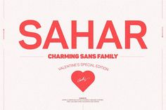 Sahar Sans Family (Early Bird Price) by Graphic Design Fonts, Design Typography, 3d Text Photoshop, Texture Web, Italic Font, Modern Sans Serif Fonts, My Better Half, One Logo, Type Posters