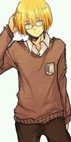 Armin Arlert   Attack on titan   shingeki no kyojin   anime   cute   blonde hair
