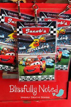 20 Disney CARS Birthday Invitation by BlissfullyNoted on Etsy