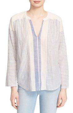 577048fe3e796 Soft Joie  Tyne  Woven Stripe Cotton Top Summer Tunics
