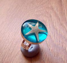 Real Starfish Blue Resin