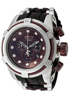 Invicta Men s Bolt Reserve Chrono Brown MOP Dial Black Polyurethane  Chronograph 63adcc5149c
