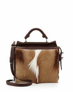 3.1 Phillip LimRyder Small Antelope Satchel Bag, Natural