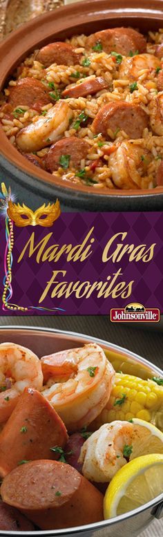 No Mardi Gras celebration is not complete without this 1-2-3 Jambalaya and Nawlin's Low Country Boil! #NewOrleans