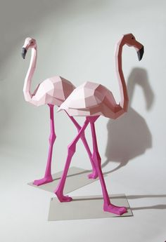 Sculptures by Wolfram Kampffmeyer Bring Whimsical Animated Animals To Life! Geometric Sculptures By Wolfram Kampffmeyer Bring Whimsical Animated Animals To Life!Geometric Sculptures By Wolfram Kampffmeyer Bring Whimsical Animated Animals To Life! Origami Paper Art, 3d Paper Crafts, Paper Toys, Diy Paper, Paper Crafting, Geometric Sculpture, Geometric Art, Geometric Animal, Geometric Origami