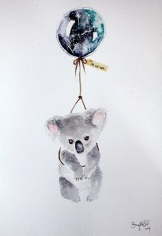 Far, Far Away VIII  #nursery #illustration #art #koala