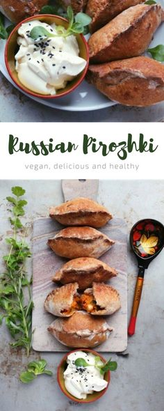 Russian pirozhki with two vegan potato fillings - healthy and perfect for any meal! #Mainmealsforvegetarians