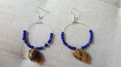 Handmade wired greek stone earrings