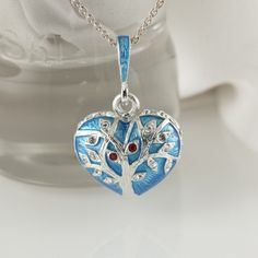 New in our shop! Heart with the tree of life necklace.