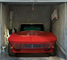Fotoplane für Garagentor Corvette´67/ Garage Mural Corvette´67