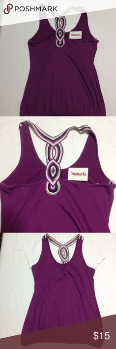 Sexy Womens Purple Tank Top Has Tag XL New Never worn. Still has tags attached from TJ Maxx. Size XL. Made from polyester, spandex and rayon. The back of this top is super pretty! Tops Tank Tops