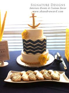 Nautical baby shower - Cake design for day 1.