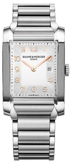 Baume & Mercier Hampton Watch Model Number 10020 Steel Case and Bracelet Quartz