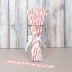 Striped Party Straws - Ballerina Pink for from The TomKat Studio Party Shop Pink Parties, Birthday Parties, 21st Birthday, Ballerina Birthday, Ballerina Pink, Paris Party, Party Shop, Spa Party, Paper Straws