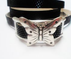 Large Butterfly Slider for 13mm Flat Leather or by KallyCo on Etsy