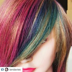 Sample of Joico instatint! They can be dark or you can put them on lightly for more pastel tones!