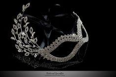 Masquerade Mask Crystal Mask Mardi Gras Mask Ball by LoveBlings