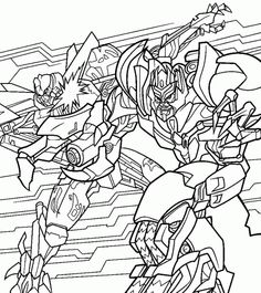 Blackout Transformer Coloring Page