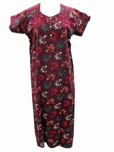 Boho Summer Fashion Maxi Cotton Dress For Women Cool Nightgown