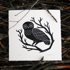 A collection of animal linoprint illustrations