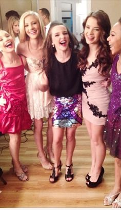 Girls on set for filming the Dance Moms Christmas Special!