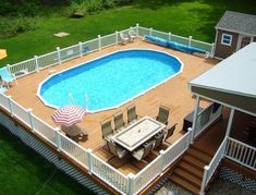 Huge selection of Above Ground Pool. Best prices on saltwater and semi-inground pool kits! Save money and do it yourself with a pool from Royal Swimming Oval Above Ground Pools, Best Above Ground Pool, Above Ground Swimming Pools, In Ground Pools, Oval Swimming Pool, Swimming Pools Backyard, Swimming Pool Designs, Above Ground Pool Landscaping, Backyard Pool Landscaping