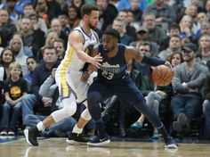 Dallas Mavericks guard Wesley Matthews (23) dribbles against Golden State Warriors guard Stephen Curry (30) during the first half of an NBA basketball game in Dallas, Wednesday, Jan. 3, 2018. (AP Photo/LM Otero)