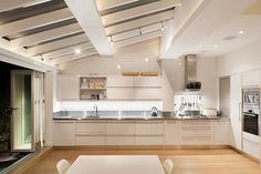 Kitchen extension enabling natural daylight to flood into the downstairs rooms whilst linking the home with the garden by Granit Kitchen Interior, Kitchen Design, Kitchen Diner Extension, Open Plan Kitchen Living Room, House Extensions, Kitchen Extensions, Architect Design, Beautiful Kitchens, Home Kitchens