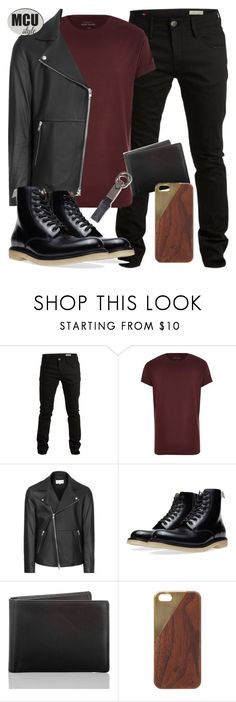 """""""Scarlet Witch Inspired Menswear"""" by lauloxx ❤ liked on Polyvore featuring SELECTED, River Island, Reiss, Common Projects, Brahmin, Native Union, Salvatore Ferragamo, Spring, Fall and casual"""