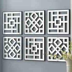 Bildergebnis für cut out canvas pattern Diy Wand, Cut Out Canvas, Wall Design, House Design, Foyer Design, Design Bathroom, Bathroom Interior, Window Grill Design, Mirror Wall Art