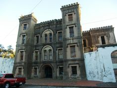 The haunted OLD CITY JAIL in Charleston, SC. I visited...it's creepy. Splurge for the Guided Ghost Tour and visit The Old Exchange and Provost Dungeon.