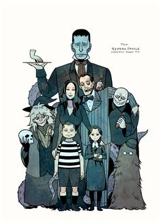 The Addams Family by freestarisis.deviantart.com on @deviantART