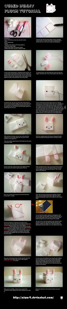 CUBED bunny plush tutorial by ~aiwa-9 on deviantART