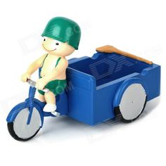 Little Soldier Ride on Cleaning Tricycles Style Ashtray - Blue + Green + Beige + Black