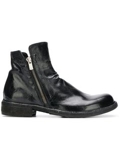 OFFICINE CREATIVE SIDE ZIP ANKLE BOOTS.  officinecreative  shoes   c8557ee4609