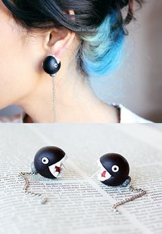 I like this edgy hair and earrings but I'd never do my hair like that.