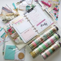 Pearl Recollections Planner and Washi Equals Love . . . #michaels…