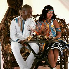 Traditional Wedding ceremonies in South Africa are not only deeply rooted in the countries respect for family and culture but are also a celebration of tribal identity with lots of food, entertainment and beautiful African wedding Attire and decor. Traditional Wedding Decor, Traditional Dresses, African Fashion, African Style, Men's Fashion, African Wedding Attire, Wedding Inspiration, Wedding Ideas, Wedding Stuff