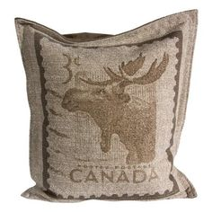 Vintage Canadiana Collection  Moose Pillow
