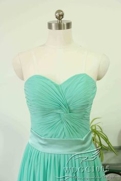 Mint bridesmaid dress sweetheart chiffon bridesmaid by WDGC1005