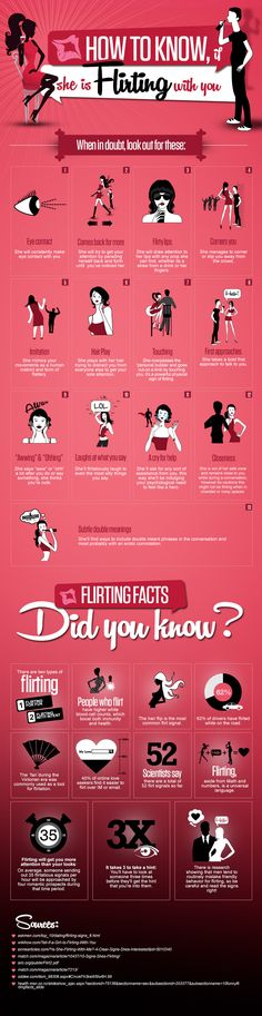 It can be a difficult situation to figure out the signs, if a girl really flirting with you. Because all females react in the different way. Want to know if she is flirting with you? We are about to tell you. Below infographic illustrate amazing flirting facts and 13 signs, when in doubt, look out of these.  http://www.digitalinformationworld.com/2013/04/13-signs-if-she-is-flirting-with-you.html #relationships #flirting #howto